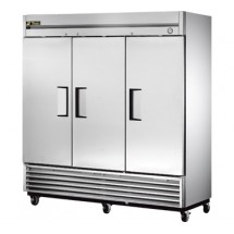 True T-72 72 Cu Ft Reach-In Three-Section Refrigerator