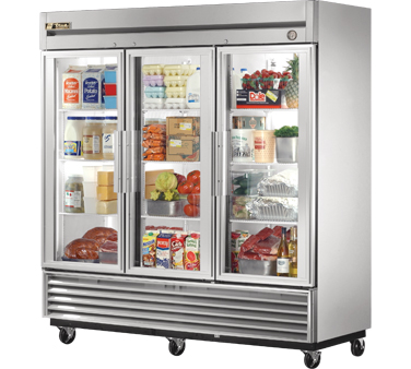 True T-72G 72 Cu Ft Reach-In Three-Section Refrigerator