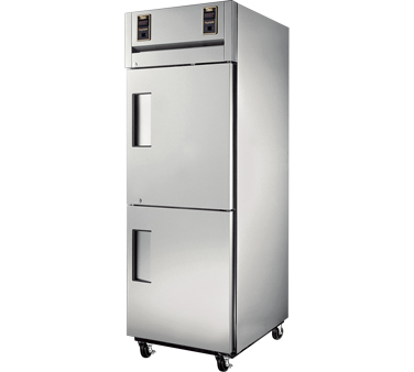 True STA1DT-2HS One Section Half Door Dual Temp Reach In Combination Refrigerator / Freezer