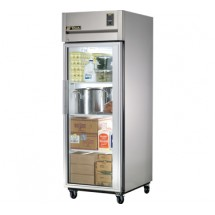 True STA1R-1G 31 Cu Ft One-Section Glass Door Reach In Refrigerator - 31 Cu Ft