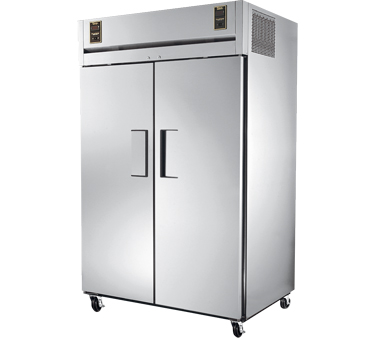 True STA2DT-2S 52 Solid Door Dual Temperature Reach In Combination Refrigerator / Freezer