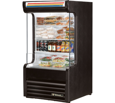 True TAC-14GS-LD Refrigerated Glass Sided Air Curtain Merchandiser 16.2 Cu Ft