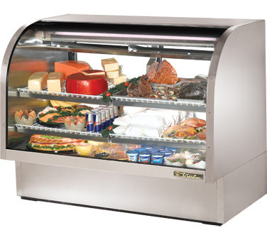 True TCGG-60-S 60-1/4 Curved Glass Deli Case