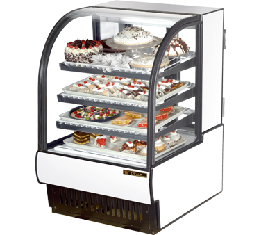 True TCGR-31 31-7/8W Curved Glass Refrigerated Bakery Case