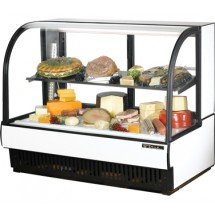 True-TCGR-59-CD-59-7-8--Curved-Glass-Refrigerated-Bakery-Display-Case