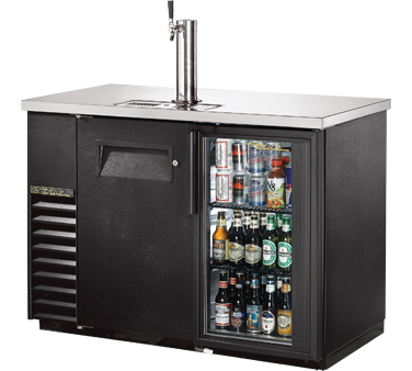 True TDB-24-48-1-G-1-LD Bar Cooler with Direct Draw Beer Dispenser  with One Glass and One Solid Door, 49
