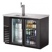 True TDB-24-48G-LD Glass Swing Door Direct Draw Beer Dispenser