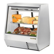 True TDBD-48-2 28 Cu Ft See-Thru Double Duty Deli Case