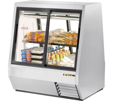 True TDBD-48-4 28 Cu Ft Pass-Thru Double Duty Deli Case