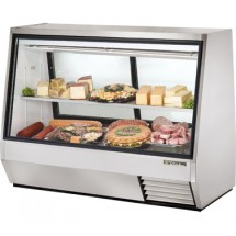 True TDBD-72-2 35 Cu Ft See-Thru Double Duty Deli Case