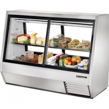 True TDBD-72-4 35 Cu Ft Pass-Thru Double Duty Deli Case
