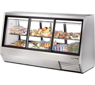 True TDBD-96-6 46 Cu Ft Pass-Thru Double Duty Deli Case