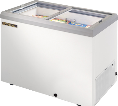 True TFM-41FL 10 Cu Ft Sliding Glass Horizontal Freezer