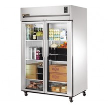 True TG2R-2G 56 Cu Ft Reach-In Two-Section Refrigerator