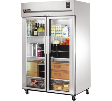 True STG2R-2G Two Section Glass Door Reach In Refrigerator  56 Cu Ft