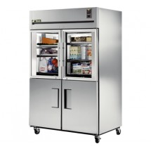 True TG2R-2HG / 2HS 56 Cu Ft Reach-In Two-Section Refrigerator