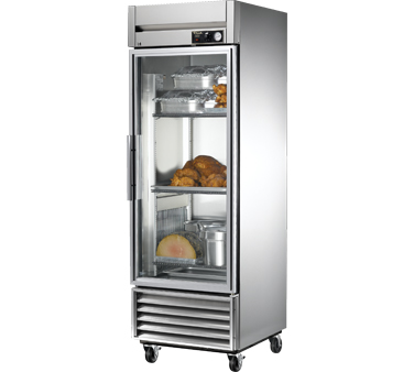 True TH-23G 23 Cu Ft Reach In Glass and Solid Heated Cabinet