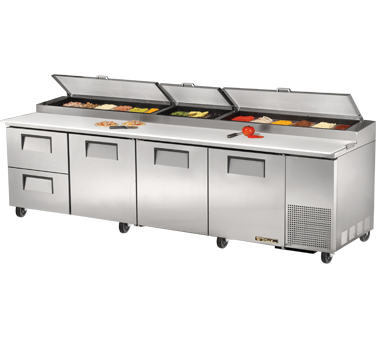 True TPP-119D-2 43.9 Cu Ft Pizza Prep Table With 19.5
