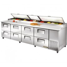True TPP-119D-8 43.9 Cu Ft Pizza Prep Table With 19.5
