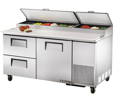 True TPP-67D-2 20.6 Cu Ft Pizza Prep Table