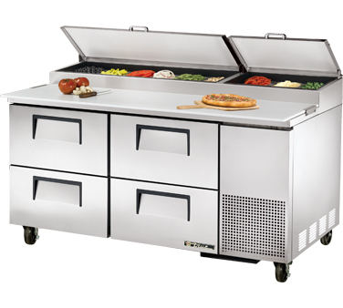 True TPP-67D-4 20.6 Cu Ft Pizza Prep Table