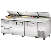 True TPP-93D-2 30.9 Cu Ft Pizza Prep Table With 19.5