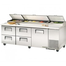 True TPP-93D-4 30.9 Cu Ft Pizza Prep Table With 19.5