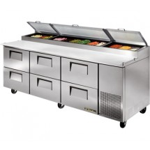 True TPP-93D-6 30.9 Cu Ft Pizza Prep Table With 19.5
