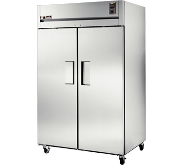 True STR2R-2S Two Section Solid Door Reach In Refrigerator 47.1 Cu. Ft.