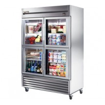True TS-49G-4 49 Cu Ft Reach-In Two-Section Refrigerator