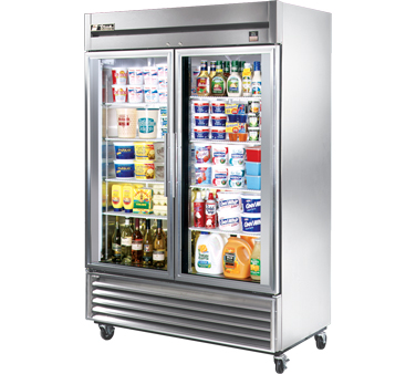 True TS-49G 49 Cu Ft Reach-In Two-Section Refrigerator