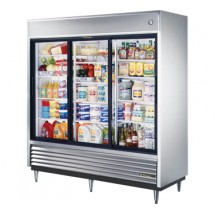 True TSD-69G 69 Cu Ft Reach-In Three-Section Refrigerator