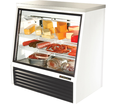 True TSID-48-2 16 Cu Ft See-Thru Single Duty Deli Case