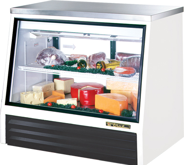 True TSID-48-2-L 17 Cu Ft  Counter-Height Deli Case With Two Doors