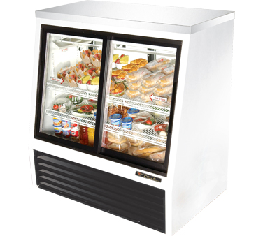 True TSID-48-4 16 Cu Ft Pass-Thru Single Duty Deli Case