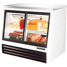 True TSID-48-4-L 17 Cu Ft Pass-Thru Counter-Height Deli Case