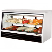 True TSID-72-3-L 25 Cu Ft  Counter-Height Deli Case With Sliding Doors