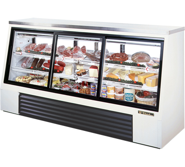 True TSID-96-6 32 Cu Ft Pass-Thru Single Duty Deli Case