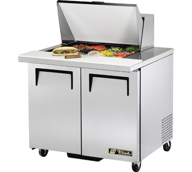 True TSSU-36-12M-B 8.5 Cu Ft Mega Top Sandwich / Salad Prep Table