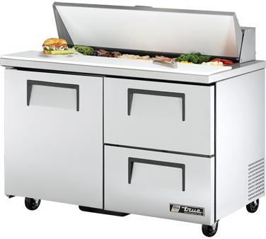 True TSSU-48-12D-2 12 Cu Ft Sandwich / Salad Prep Table
