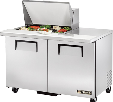 True TSSU-48-12M-B 12 Cu Ft Mega Top Sandwich / Salad Prep Table