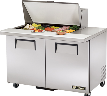 True TSSU-48-15M-B 12 Cu Ft Mega Top Sandwich / Salad Prep Table