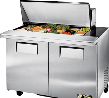 True TSSU-48-18M-B 12 Cu Ft Mega Top Sandwich / Salad Prep Table