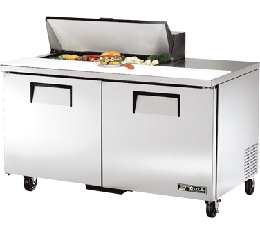 True TSSU-60-10 15.5 Cu Ft Sandwich / Salad Prep Table With 11-3/4