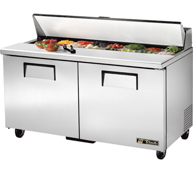 True TSSU-60-16 15.5 Cu Ft Sandwich / Salad Prep Table With 11-3/4