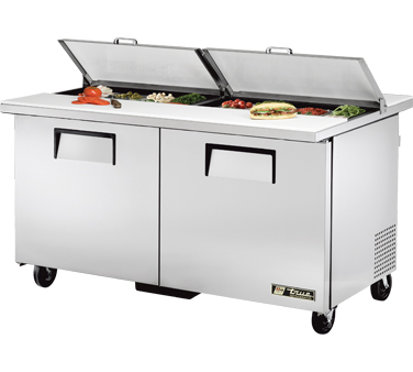 True TSSU-60-16-DS-ST 15.5 Cu Ft Dual Sandwich / Salad Prep Table
