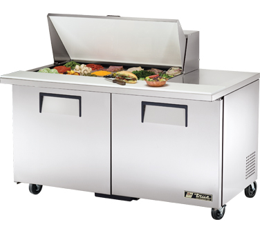 True TSSU-60-18M-B 15.5 Cu Ft Mega Top Sandwich / Salad Prep Table