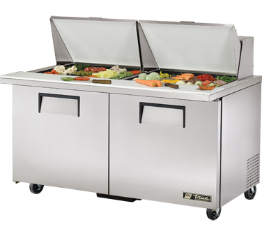 True TSSU-60-24M-B-ST 15.5 Cu Ft Mega Top Sandwich / Salad Prep Table