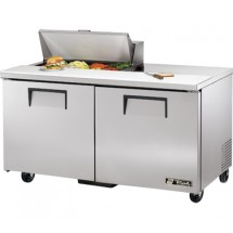 True TSSU-60-8 15.5 Cu Ft Sandwich / Salad Prep Table With 11-3/4