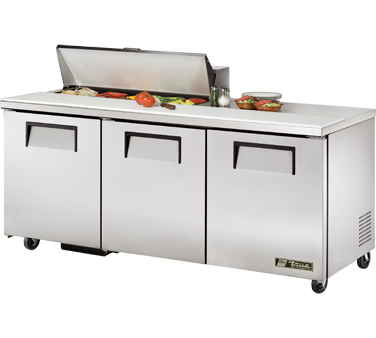 True TSSU-72-10 19 Cu Ft Sandwich / Salad Prep Table With 11-3/4